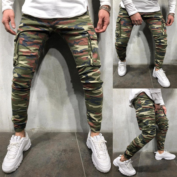 Gradient Color Ripped Jeans Men Casual Slim Fit Mens Skinny Jeans Homme Brand Motor Biker Hip Hop Zipper Denim Pants Trousers