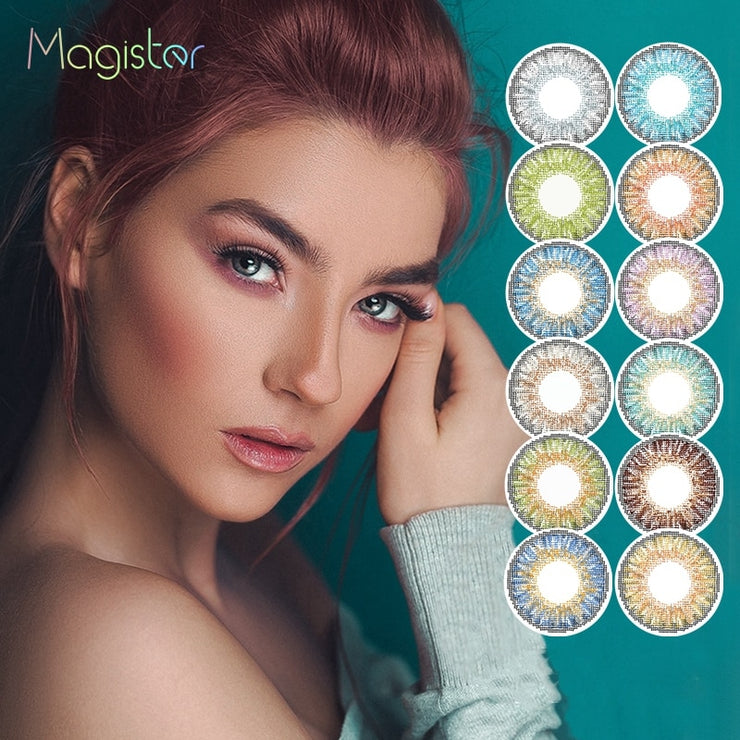 2pcs/pair 3 Tone Series Colored Contact Lenses Annually Colored Eye Lenses Color Contact Lens