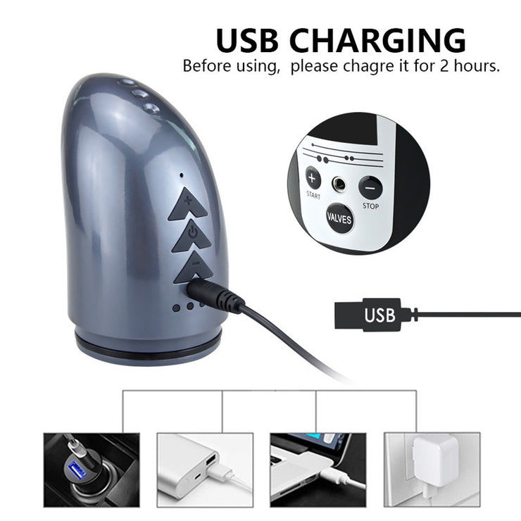 Electric Penis Pump USB Rechargeable Automatic Penis Enlargement Vacuum Pump Erection Penis Extender Male Enlarger Sex Toy