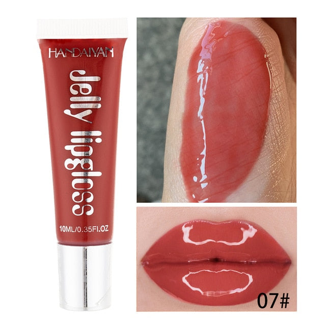 Big Lips Gloss Base Moisturizer Plumper Lip Gloss Long Lasting Sexy Lips Pump Transparent Waterproof Volume Lip Clear Lipgloss