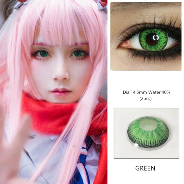 EYESHARE 1 Pair  Beautiful Pupil  Eye Cosmetic Colorful Contact Lens Halloween Cosplay Lenses Crazy Lens for Eyes