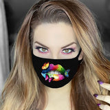 Women Sexy Lip Print Cotton Face Shield Anti Dust Sand Anti Exhaust Sunscreen Mouth Face Care Cover Breathable Cycling Bandana