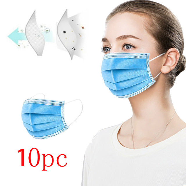 mascarillas mask for face Scarf Máscara facial 10-100PC Environmentally Friendly Disposable Masks With Breathable Masks masque