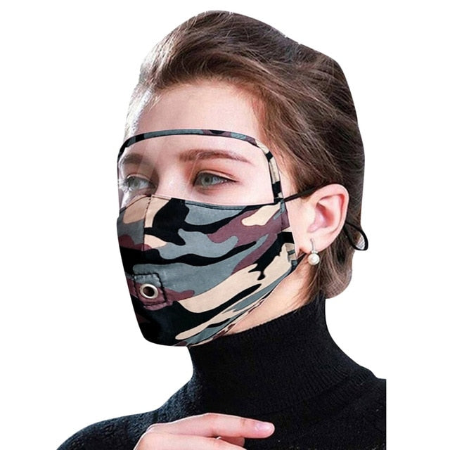 Zipper Face Mask Scarf Mascarilla Mascarar Cotton Face Mask Pm2.5 Activated Carbon Mask Washable And Reusable Lot Maska