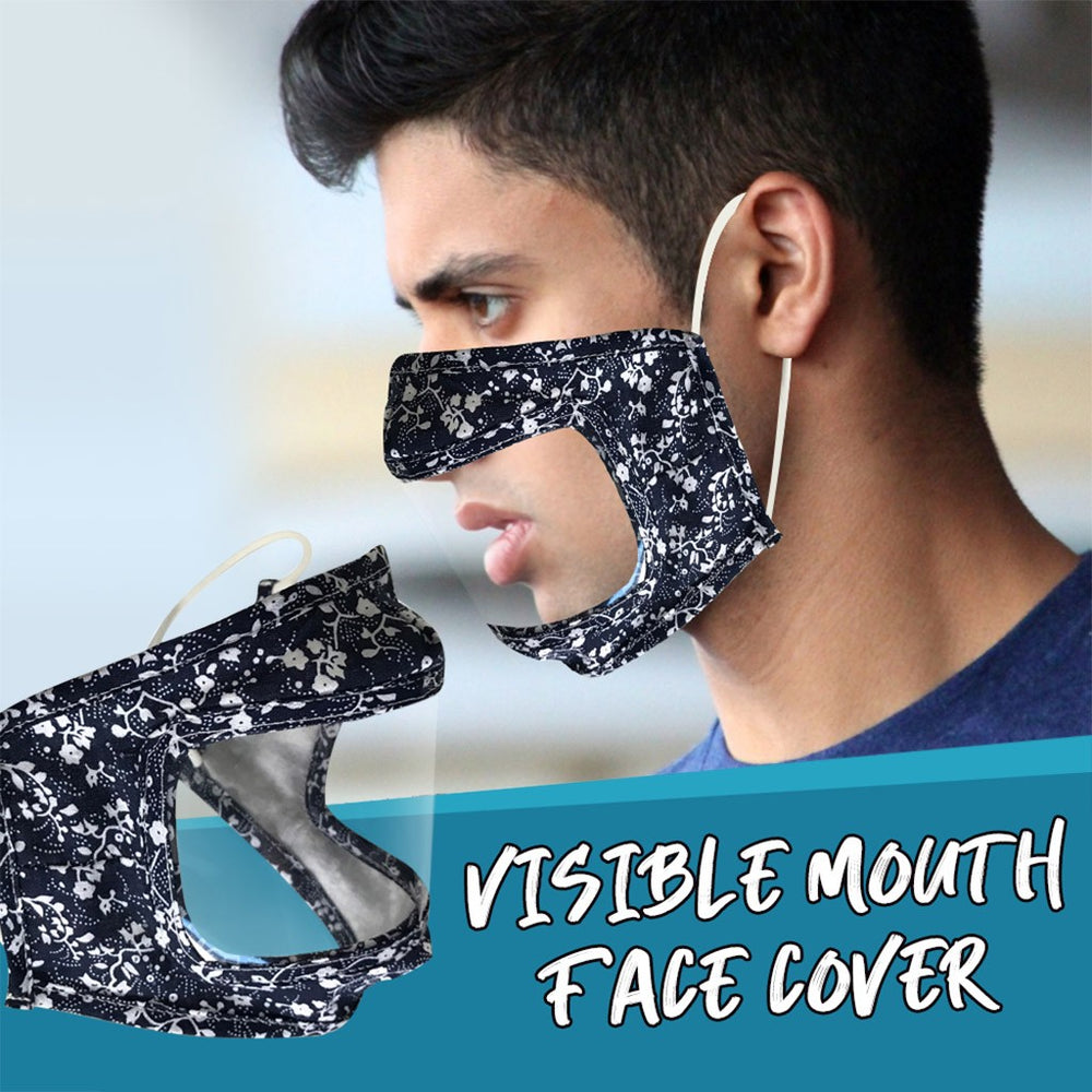 Fast Delivery Scarf Mask For Face  Mask With Clear Window Visible Expression For The Deaf And Hard Of Hearing Máscara Facial