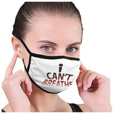 I Can't Breathe Letter Print Mask Scarf Reusable Facemask Breathable Facemask Dustproof Letter Print Mouth Face Cover Cubrebocas
