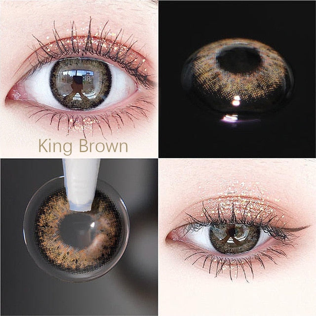 1pair  RussianGirl Taylor DNA Colored Contact Lenses Cosmetic Contacts Natural Color Lens