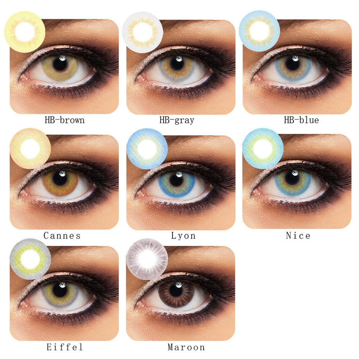 ksseys 2pcs/pair edeg 2 tone  Colored Contact Lenses beauty pupil cosplay