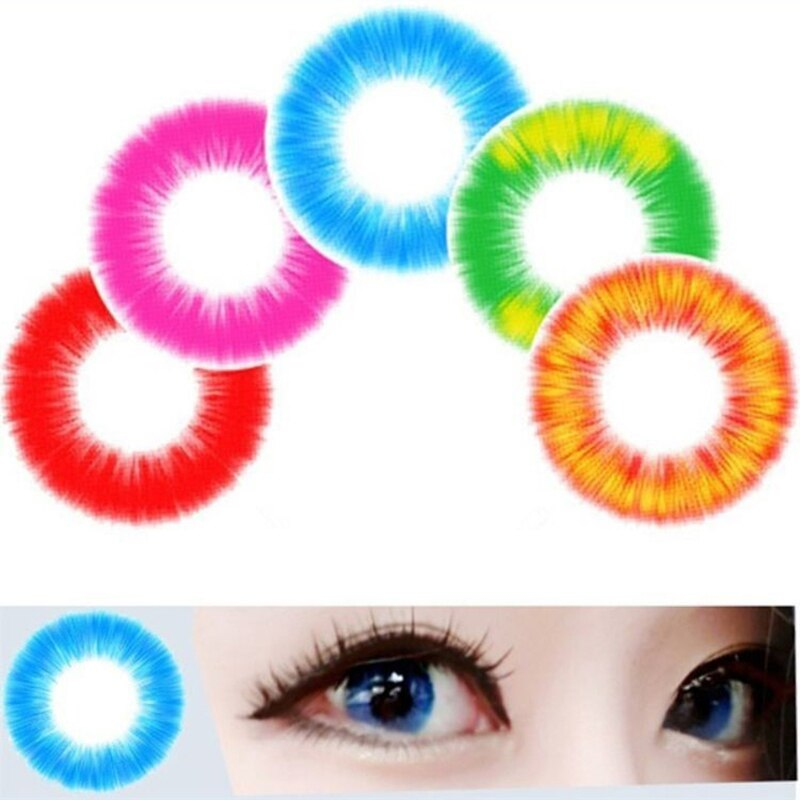 Beauty Coner- 2pcs/pair Boundless Fire Cospaly Color Contact Lens Soft Halloween Colored Contact Lenses for eyes