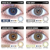 ILLUCON 2pcs/ Pair Color Contact Lenses for Eyes Colored Cosmetic Soft Natural Contacts Lens Mist Series