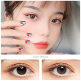 HIDROCOR® SUNGLOW Series Eye Color Lens Myopia Power Prescription Colored Contact Lenses Yearly Color contacts Lenses For Vision
