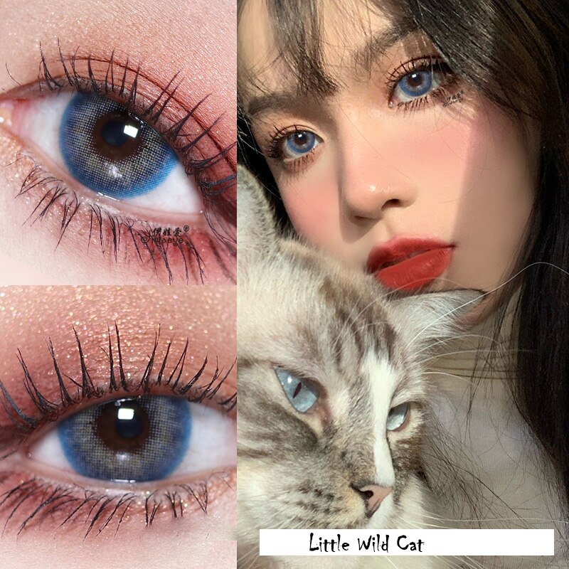 Beauty Coner-2pcs/pair Little Wild Cat Cosmetic Colored Contact Lens Animal Eye Color Contact lenses