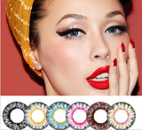 Fantasy Yearly Cycle Soft Quality Colored Contact Lenses Natural Eye Cosmetic Contact Lens