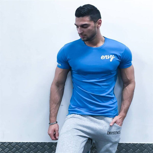 Summer New Brand mens gyms T shirt CrossfitsFitness Bodybuilding Shirts Printed Fashion Male Short cotton clothing Tee Tops size