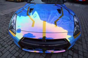Holographic  Rainbow  Neo  Chrome  Car Vinyll film all size suitable