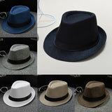 New Classic Mens Women Straw Fedora Hat Wide Brim Panama Hat Summer Hat Mens or Ladies Crushable Fedora Hat