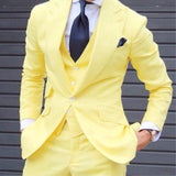 Men's Blazer Slim 3 Pieces Skinny Groom Dress Custom Prom Style Jacket Men