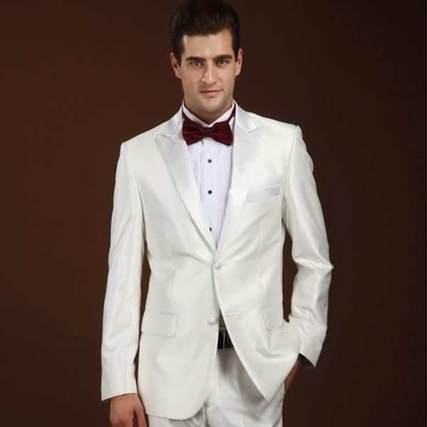Side Vent Two Button Plaid Groom Tuxedos Mens Prom Clothing Business Blazer Suits  (Jacket+Pants+Tie)