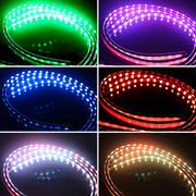 Niscarda 4x DC12V IP65 RGB 5050 SMD Music Remote Control RGB LED Strip Under Car Tube Underglow Underbody System Neon Light