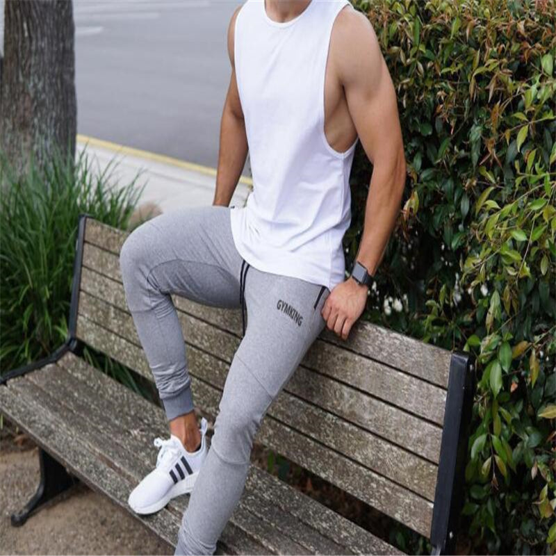 Summer Autumn Brand Gyms Men Joggers Casual Men Sweatpants Joggers Trousers Sporting Clothing The high quality Bodybuilding