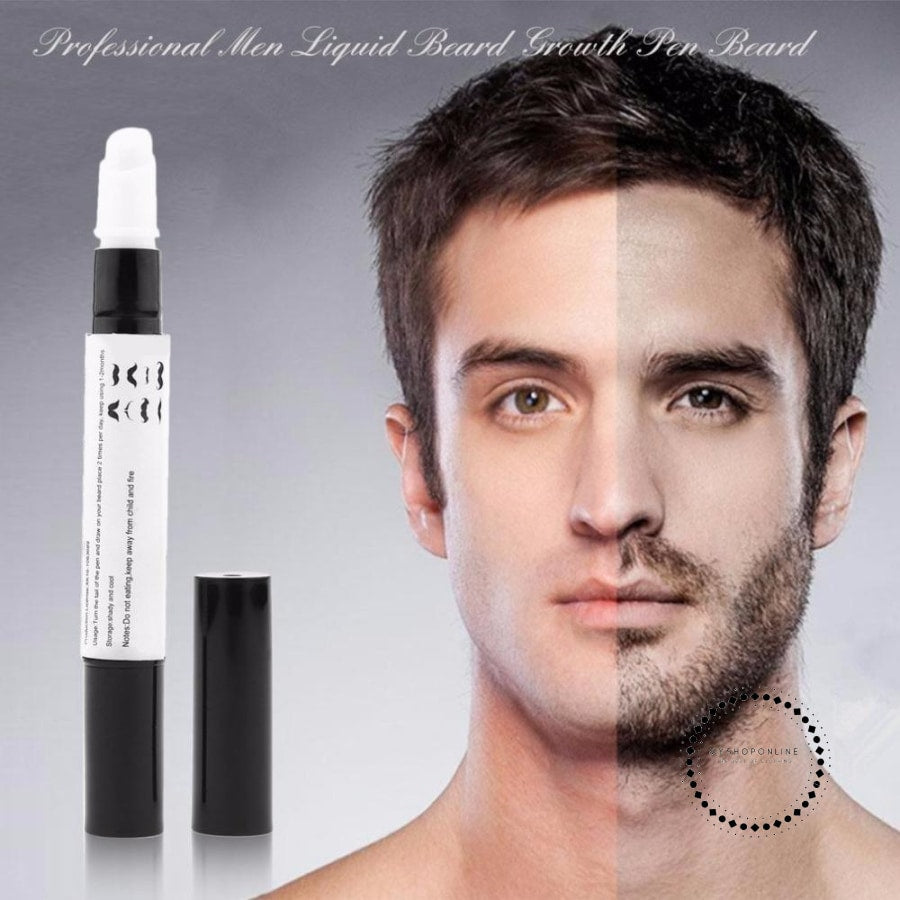 Professional Men Liquid Beard Growth Pen Enhancer Facial Whiskers Nutrition Moustache Grow Drawing