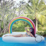 Rainbow Cloud Gaint Inflatable Swimming Float Pool For Adult Tube Raft Kid Ring Summer Water Toy