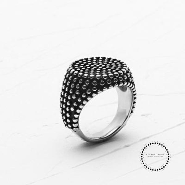 Ring Men Art Antique Rings 8 / Retro Silver Accesorios