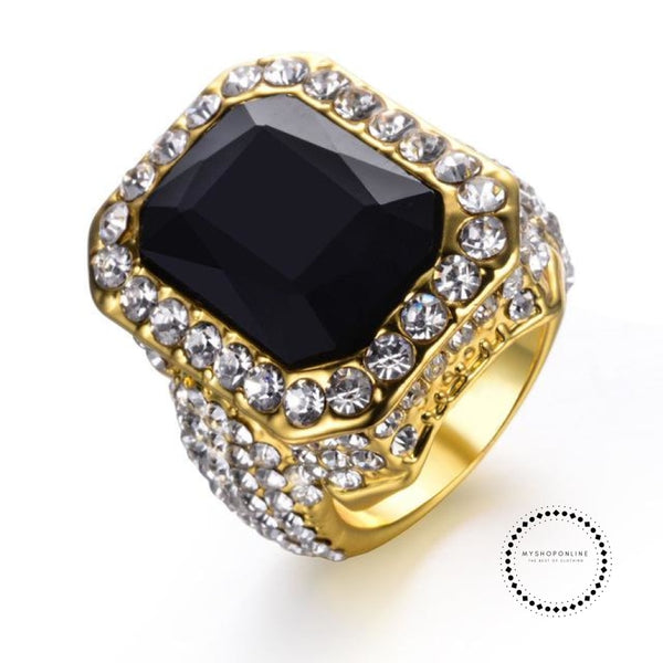 Ring Punk Mens Wedding Jewelry 10 / Black Accesorios
