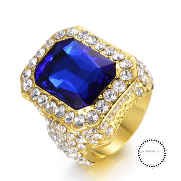 Ring Punk Mens Wedding Jewelry 10 / Blue Accesorios