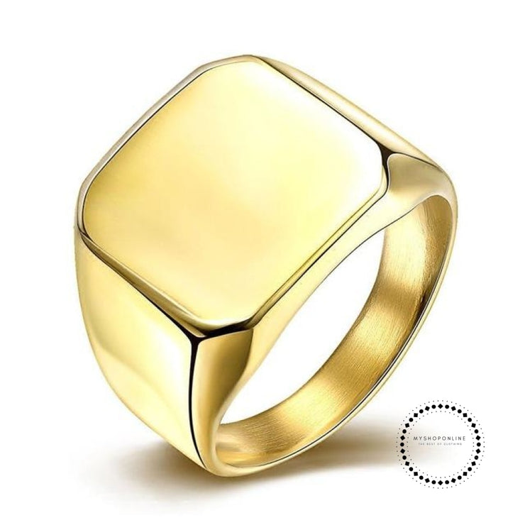 Rings Man of titanium steel 24K - myshoponline.com