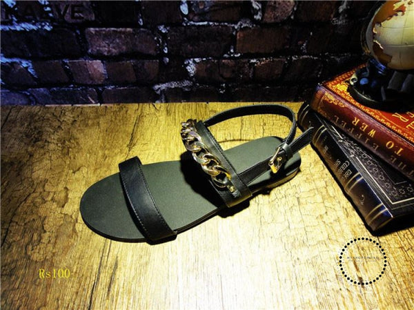 Sandals Leather Rome Hollow Summer Shoes Accesorios