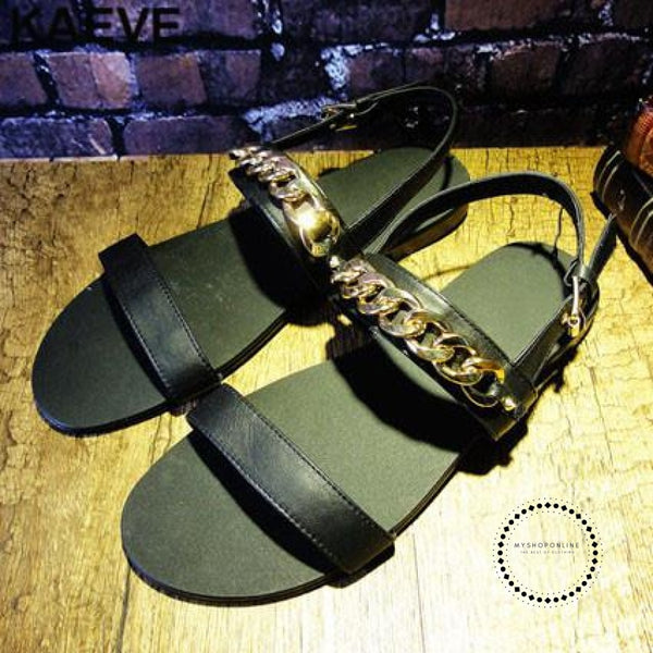 Sandals Leather Rome Hollow Summer Shoes As Show / 6.5 Accesorios