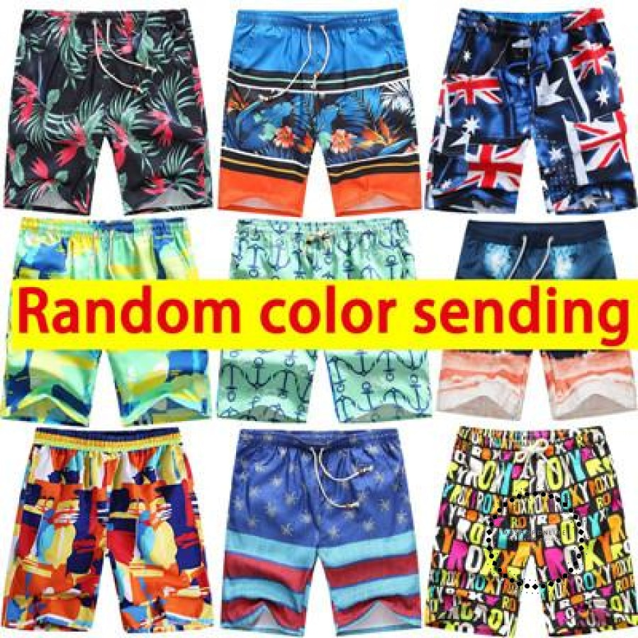Sexy Beach Shorts Men Swimwear Random Color Sending / L Hombres