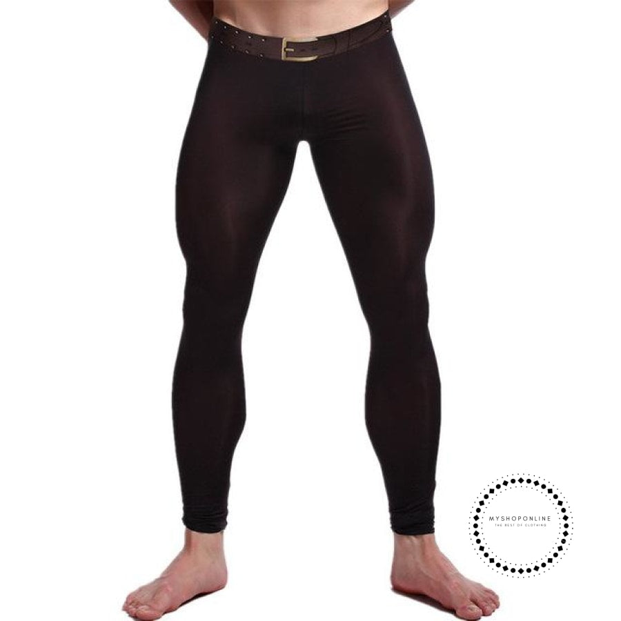 Sexy Men Long Johns Underwear Black / L Accesorios