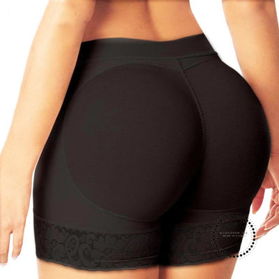 Sexy Padded Panties Butt Lifter Shaper Panties Black / S Ropa Intérieur