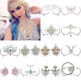 Shellhard 12 Styles Adhesive Sticky Gems Sticker Makeup Face Boob Jewel Crystal Festival Party