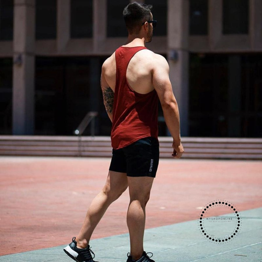 Shorts Mens High Waist Drawstring Loose Summer Beach Casualrunning Breathable Elastic Male