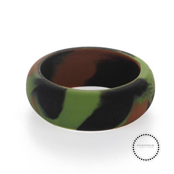 Silicone Ring For Men 9 / Camouflage Green Accesorios