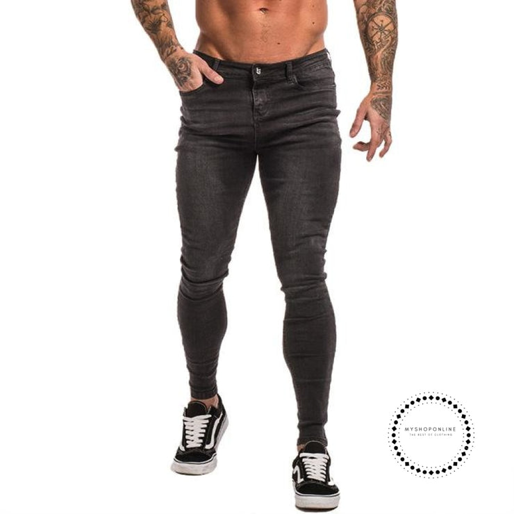 Skinny Jeans For Men Black Streetwear Hip Hop Stretch Hombre Slim Fit Fashion Biker Ankle Tight Grey
