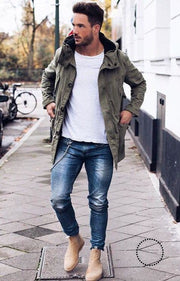 Skinny Jeans For Men Black Streetwear Hip Hop Stretch Hombre Slim Fit Fashion Biker Ankle Tight