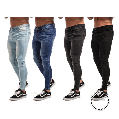 Skinny Jeans For Men Black Streetwear Hip Hop Stretch Hombre Slim Fit Fashion