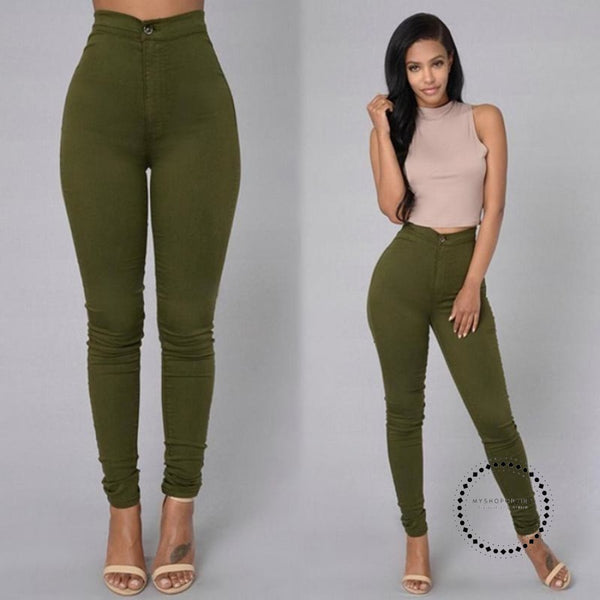 Skinny Jeans Woman High Waist Vintage Accesorios