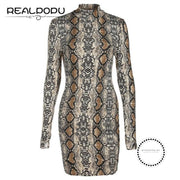 Snake Skin Turtleneck Long Sleeve Bodysuit As Picture / L Accesorios