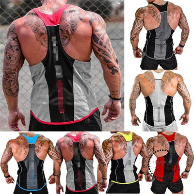 Sport Gym Men Vest Bodybuilding Tank Tops Muscle Clothing Stringer Strong Suit Wear Tees