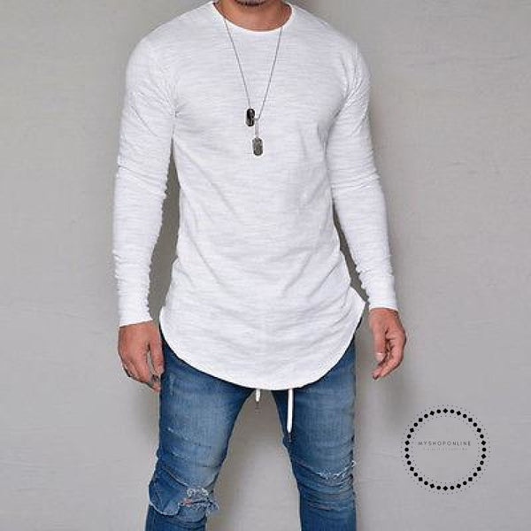 Street T-Shirt Wholesale Fashion Brand T Shirts Men Summer Long Sleeve Accesorios