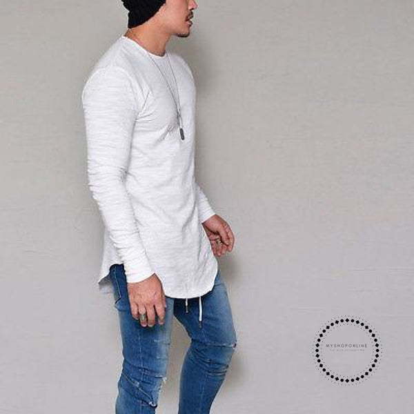 Street T-Shirt Wholesale Fashion Brand T Shirts Men Summer Long Sleeve White / S Accesorios