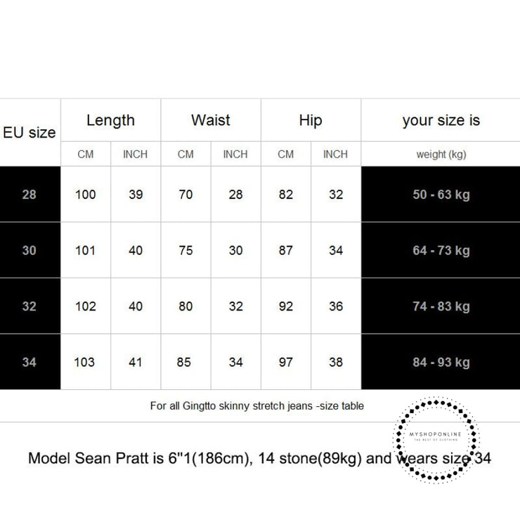 Stripe Men Ripped Jeans Skinny Elastic Pant Tape Designer Brand Street Fashion Slim Fit Hip Hop