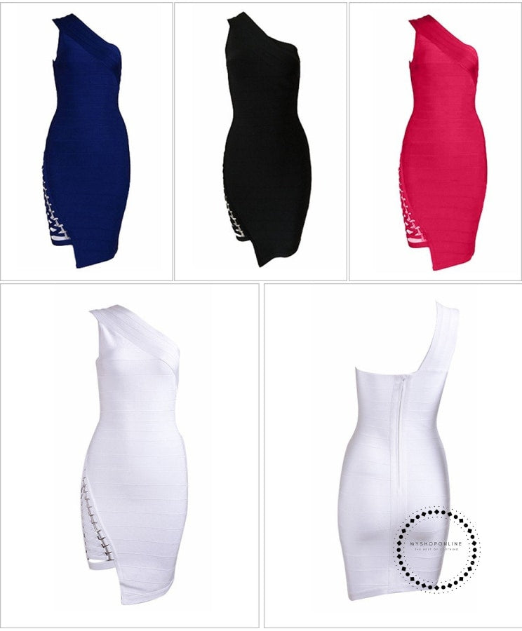 Summer Bandage Dress Women Celebrity Party Accesorios