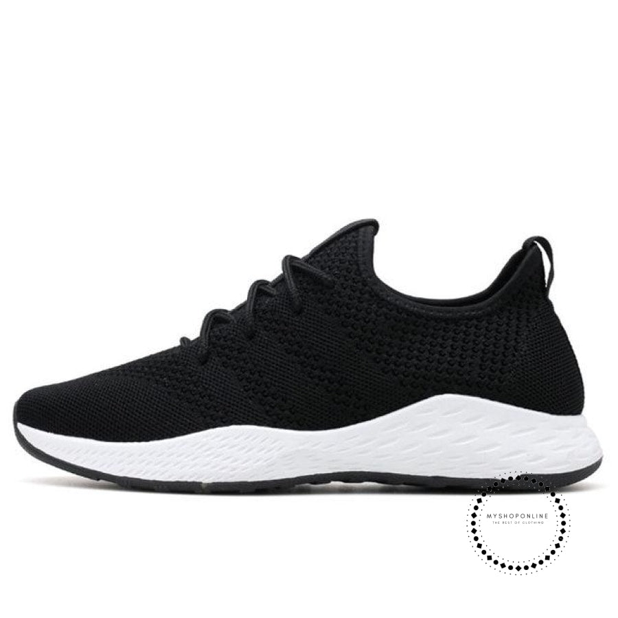 Summer Men Running Shoes Outdoor Jogging Training Sports Sneakers Breathable Mesh For Black White