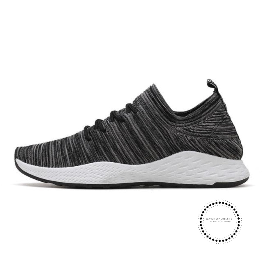 Summer Men Running Shoes Outdoor Jogging Training Sports Sneakers Breathable Mesh For Grey K03 / 7.5